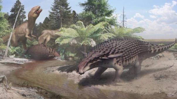 A pesar de su impactante tamaño y de su armadura protectora, al dinosaurio Borealopelta markmitchelli  lo cazaban, por eso desarrolló un color protector.