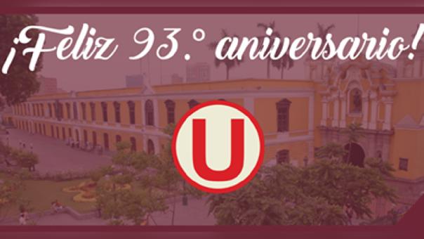 Con esta imagen la Universidad más antigua de América rindió homenaje a Universitario de Deportes.
