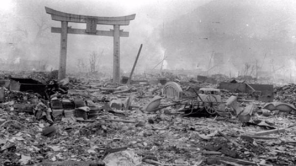 Así quedó Nagasaki luego de la explosión de la bomba Atómica.