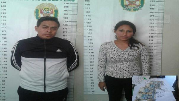 Jóvenes detenidos con billetes falsos