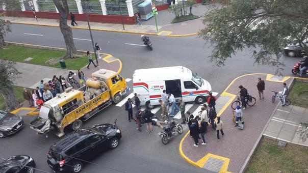 Accidentes en cuadra 46 de la avenida Arequipa