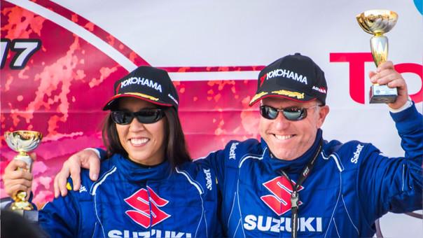 Renzo Lercari y su copiloto Diana Lam
