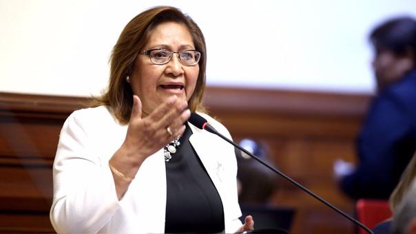 La ministra de la Mujer, Ana María Choquehuanca, asumió la cartera en julio pasado.