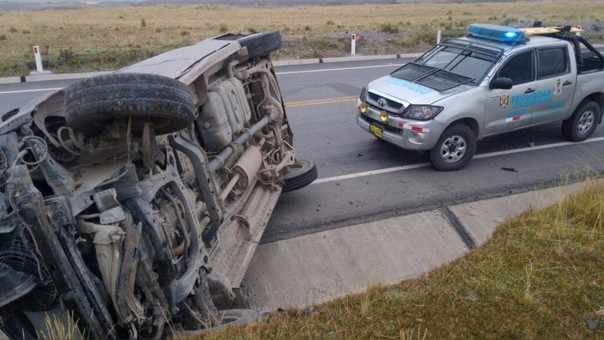 Accidente de tránsito en la carretera Belaunde Terry.