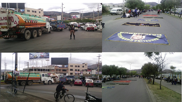 Docentes realizaron un plantón en el frontis de la Universidad Nacional de Cajamarca (UNC) y Dirección Regional de Educación (DRE)
