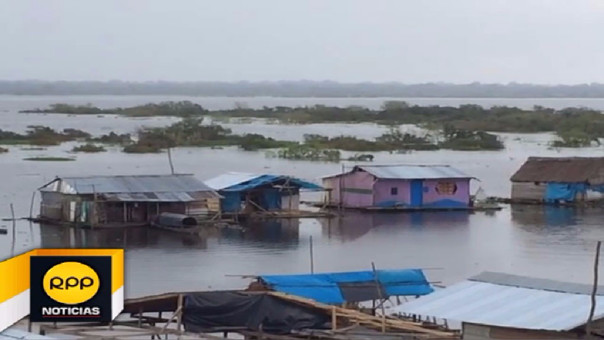 Así quedaron las casas tras el desborde del río Pastaza.