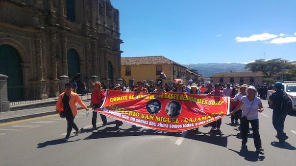 Paro de profesores en Cajamarca