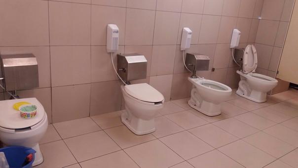 Como se observa en la imagen los inodoros están expuestos y no podrían ser utilizados.