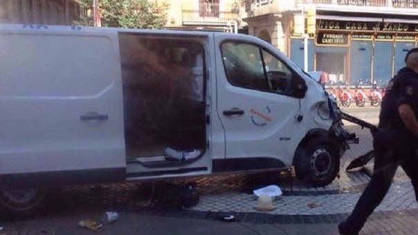 La furgoneta usada en el atentado.