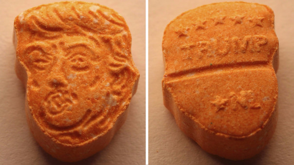 Traficaban pastillas de éxtasis con la cara de Trump