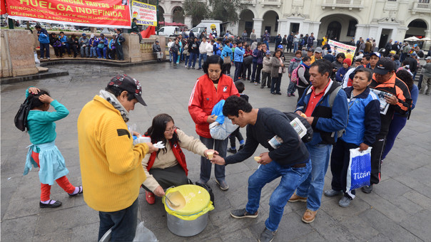 PERU-EDUCATION-TEACHERS-STRIKE