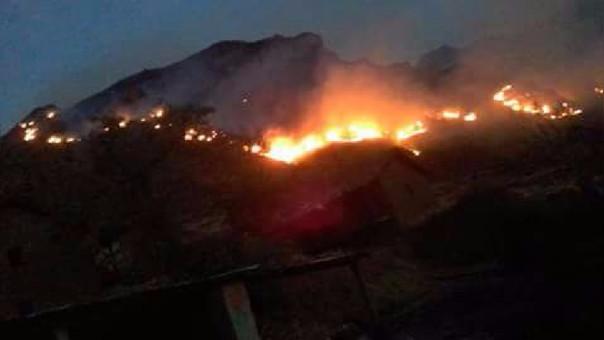 Incendio forestal Acos cusco