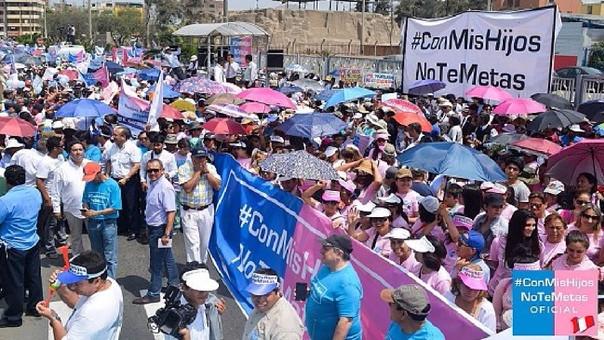 Los colectivos conservadores y religiosos realizan marchas sobre lo que denominan la 'ideología de género'.