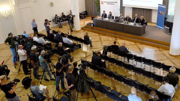 La conferencia de prensa donde se presentó el resultado de la investigación.