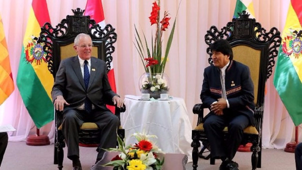 Bolivia y Perú acuerdan impulsar puerto de Ilo y tren bioceánico