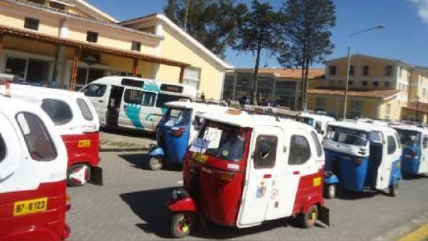 Mototaxis en Cajamarca