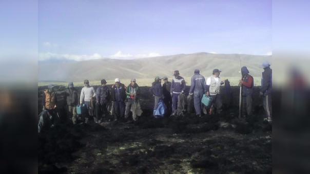 Incendio forestal en Puno
