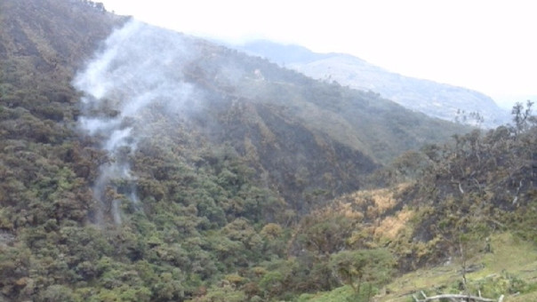 Incendio en Chaparrí