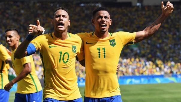 Neymar y Gabriel Jesús fueron parte del equipo brasileño que ganó la medalla de oro en los Juegos Olímpicos Río 2016.