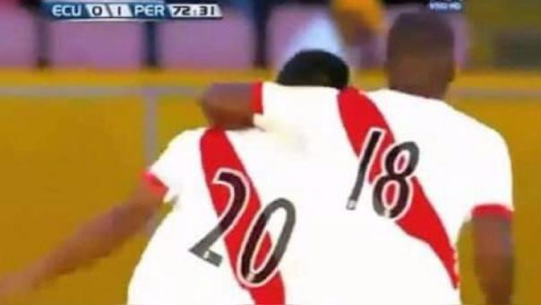 Edison Flores (con la camisa 20) y André Carrillo (con la 18) formaron el 2018.