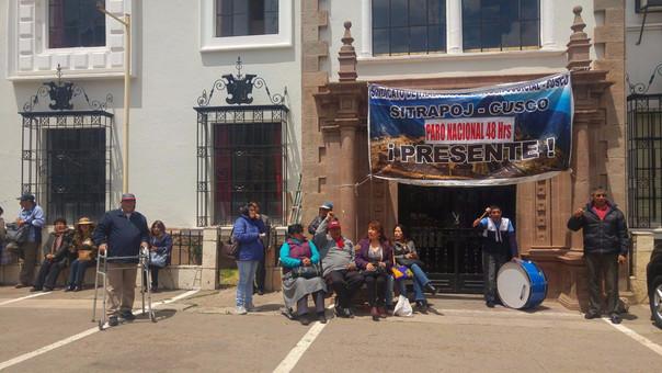 paro trabajadores del Poder Judicial Cusco