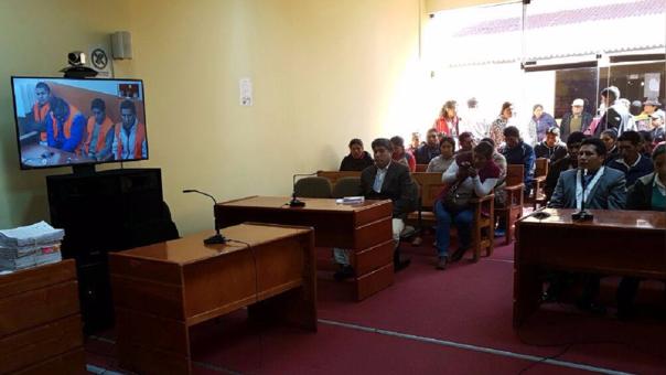La audiencia se realizó a través de videoconferencia en el penal de Juliaca.