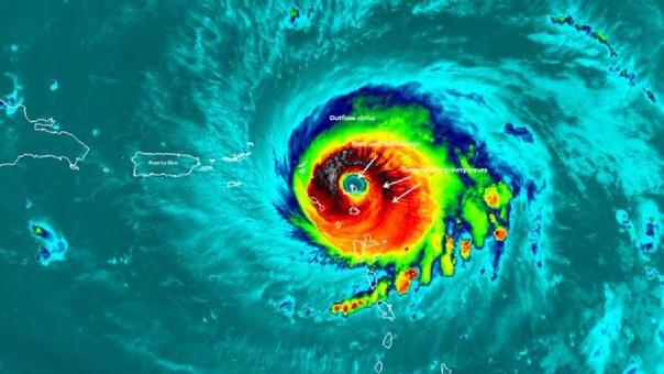 El huracán Irma sobre Barbuda