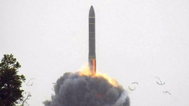 Un RS-24, como el misil probado este martes.