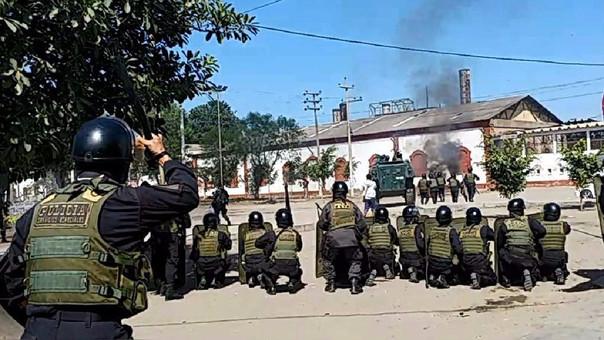 Policía Nacional en Tumán