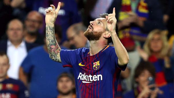 Lionel Messi se estrenó con dos goles en la Champions League 2017/2018. Lo hizo en el Barcelona 3-0 Juventus.