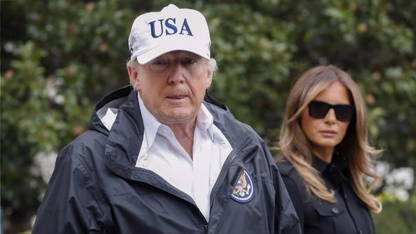 Donald Trump tuiteó esta mañana antes de partir a Florida para visitar a los damnificados por el huracán Irma.