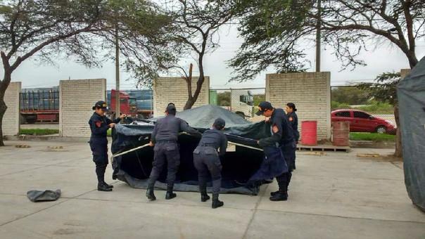 Policías en capacitación
