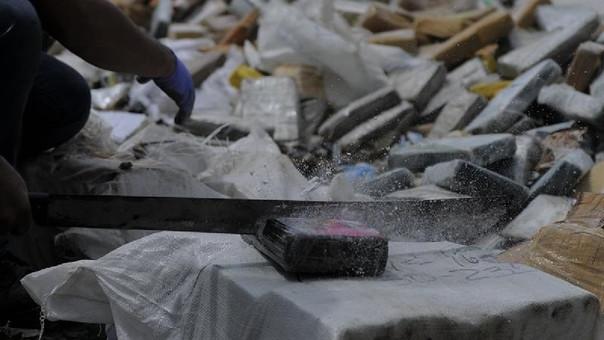 La anterior quema de droga fue de 9,7 toneladas en agosto pasado.
