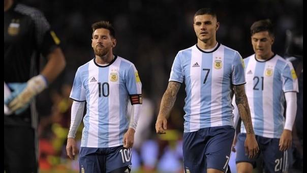 Mauro Icardi y Lionel Messi jugaron juntos contra Uruguay y Venezuela por primera vez en las Eliminatorias.