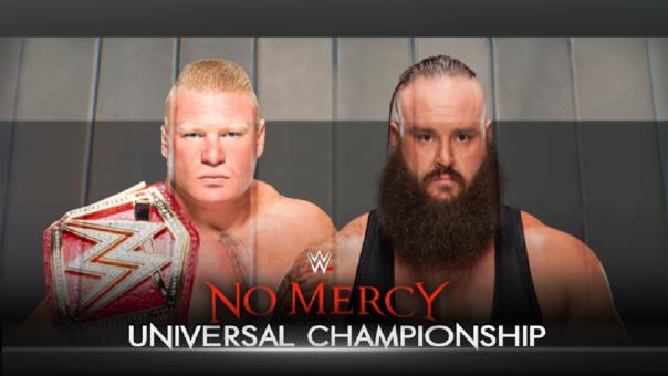 Esta será la lucha estelar de No Mercy de este domingo. Brock Lesnar vs.  Braun Strowman.
