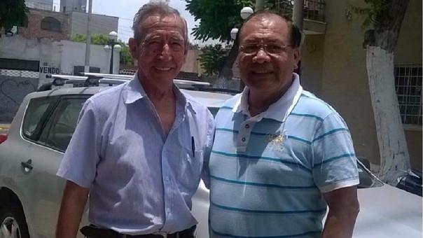(izquierda) Napoleón Miranda Otero y César Moreno Inoñan