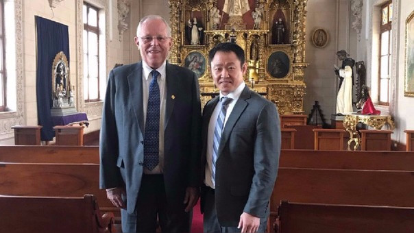 Kenji Fujimori agradeció a través de sus redes sociales que el presidente lo invitara a recorrer Palacio de Gobierno, lugar que habitó por 10 años.