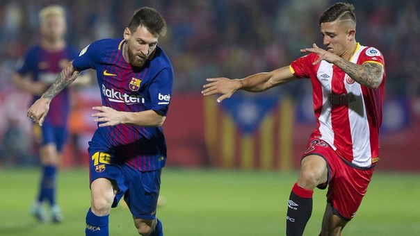 Lionel Messi jugó todo el partido, mientras que Pablo Maffeo lo hizo hasta el minuto 78.