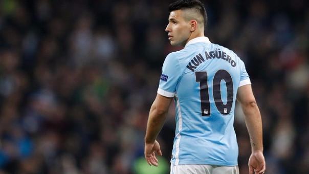 Sergio Kun Agüero en el Manchester City.