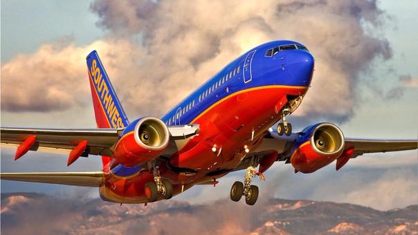 Southwest Airlines tiene la mayor participación de mercado en los vuelos domésticos en Estados Unidos con un 19.1%.