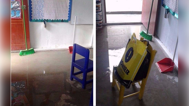 Aula inundada