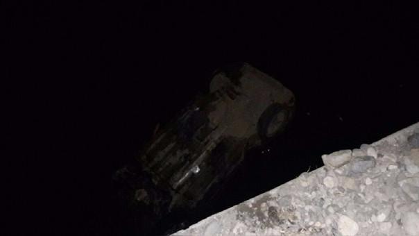 Camioneta cayó