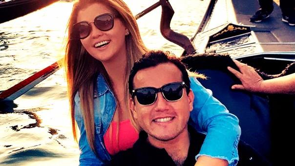Brunella Horna y Richard Acuña en una foto compartida en Instagram.