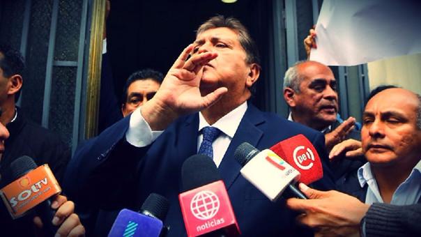 Alan García cuestiona decisión de fiscalía de investigarlo por crimen organizado