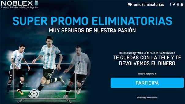 Así promocionó sus televisores la marca argentina, auspiciadora de la selección.