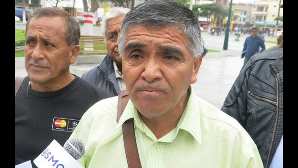 Presidente del Frente de Defensa, Carlos Paredes.