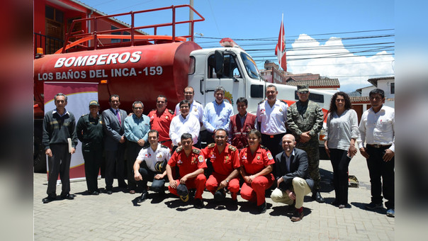 Camión cisterna permitrá abastecer de agua para atender emergencias que se presenten en Baños del Inca y Cajamarca