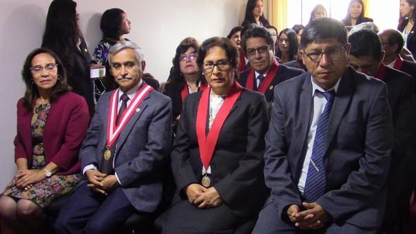 Presidente de la Corte Suprema de Justicia en ceremonia.