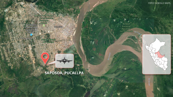 Pucallpa: así quedó la avioneta tras accidente