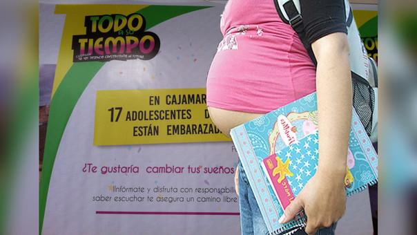 En la región Cajamarca de cada 100 embarazadas, 17 son adolescentes